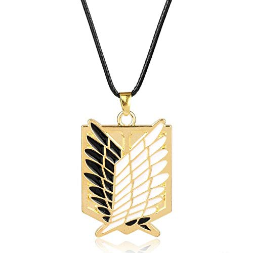 Anime Attack On Titan Necklace Wings Of Liberty Pendant Necklace Art Crafts Gifts Hanging Ornanment Gold