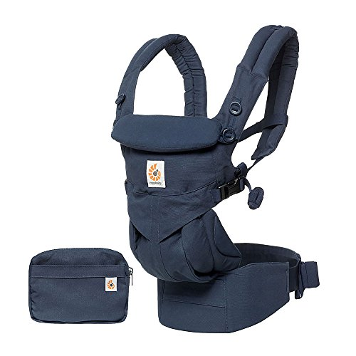 Ergobaby Omni 360 Ergonomic Baby Carrier for Newborns, 4 Back and Stomach Positions (Midnight Blue)