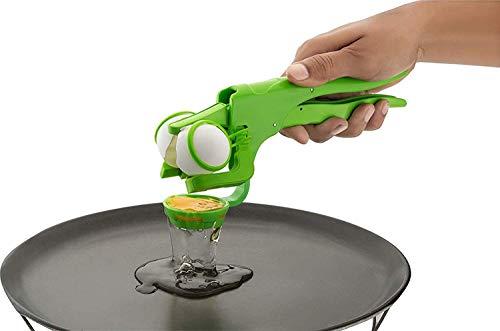 Whopper Eierschalenöffner Easy Cracker & Separator, Eiweiß Eigelb mit spülmaschinenfesten kreativen Küchenwerkzeugen