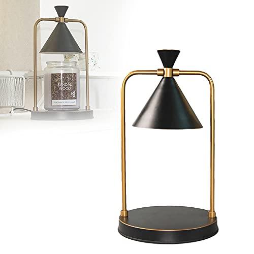 Lámpara de aroma, iluminación ajustable Lámpara de fragancia eléctrica Luz de noche - Lámpara de vela eléctrica-Calentador de cera fundido para regalos de dormitorio en casa