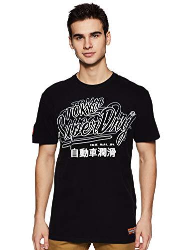 Superdry Herren Reactive Classic Box FIT Tee T-Shirt, Schwarz (Black 02a), Medium (Herstellergröße: M)