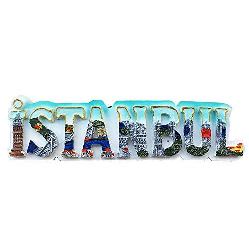 Wedare Istanbul Türkei 3D Buchstaben Kühlschrankmagnet Reise Aufkleber Souvenirs, Home & Kitchen Dekoration Türkei Kühlschrank Magnet aus China