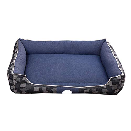 IAOHUO Durable Dog Bed - Removable Light Pet Sleeping Pet Bed Bag Comfortable Pillow Pet Sofa For Medium And Large Dog Cat (Color : Blue, Size : S)