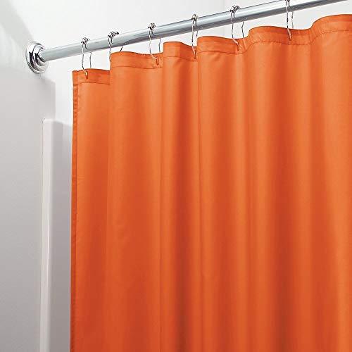 Vinyl Shower Curtain Liner with Rustproof Metal Grommets for Bathroom Showers and Bathtubs – Waterproof Shower Liner – Orange, 70 x 72