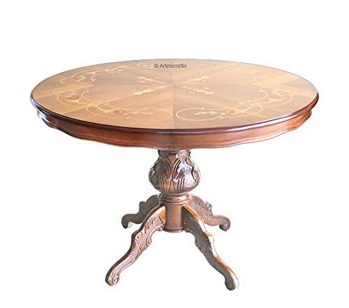 Arteferretto Table Ronde marquetée 120 cm diamètre