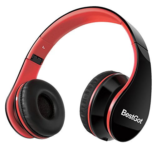 G-Galice Kids Headphones for Boys School Adults with Microphone Volume Control with Removable Audio Cable Black&Red