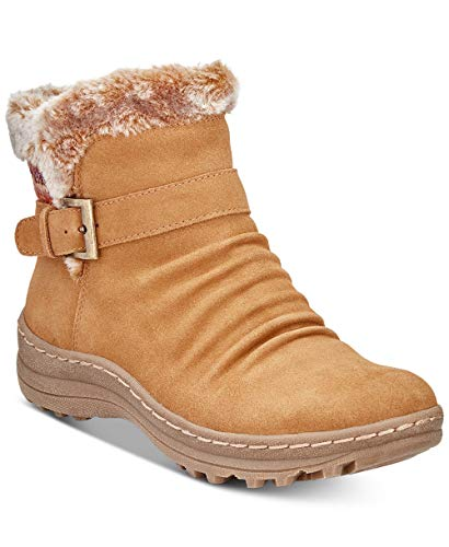 Price comparison product image BareTraps Womens Arlow Leather Closed Toe Ankle,  Whiskey Suede,  Size 9.0