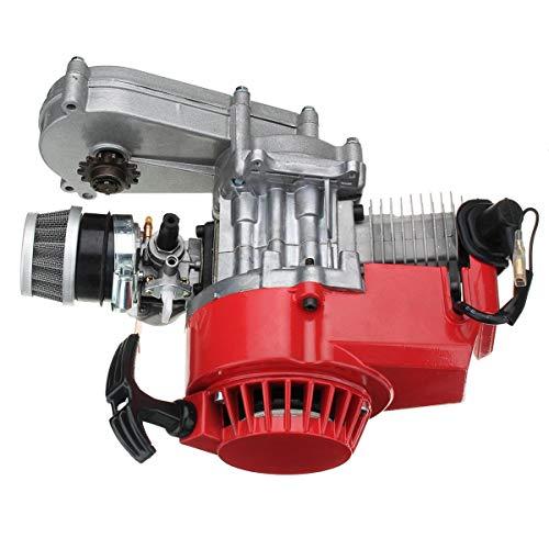 Junta de pistón de Cilindro para Motor de 49 CC, 2 Tiempos en tracción con transmisión para Mini Moto, Color Rojo