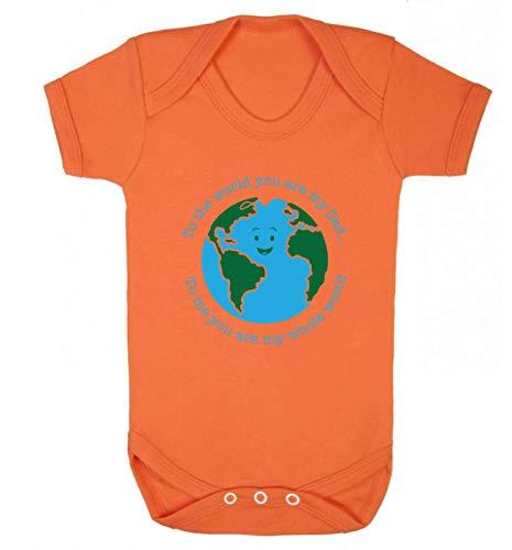 Flox Creative Baby Vest Dad You are My Whole World T-shirt pour bébé - Orange - S