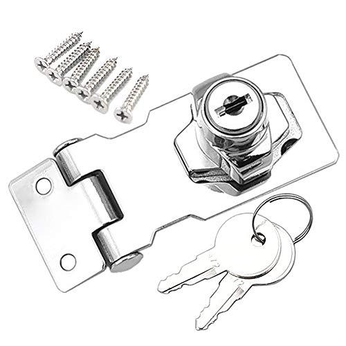 YUOIP® Schublade Schrank Locks Vorhängeschloss Überfalle Lock Cam Lock Tor Riegel Schloss mit Schrauben für Möbel Schrank Mailbox Schublade Schrank Closet(2,5 Zoll)(1 Stück)