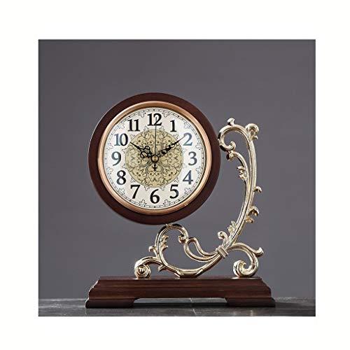 Estilo Europeo Simple Retro Reloj de Escritorio Sala de Estar Muebles para casa Relojes de Silencio Relojes de Escritorio
