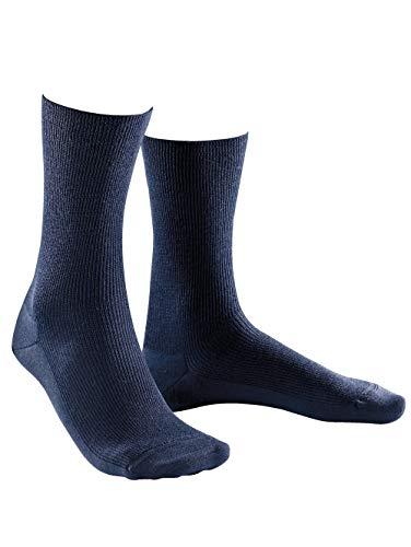 Weissbach Socken »Elite« ohne einschneidenden Gummibund marine