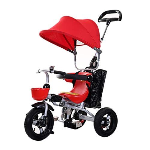 Dreirad, Leerrad aus Titan, 3-in-1-Dreirad, zusammenklappbar mit einem Knopf, 1-6 Jahre altes Baby-Dreirad for den...