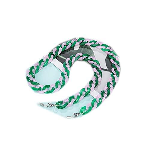 Cordón para gafas, cadena para mujer, hombre, acrílico, lectura antislip gafas de sol, regalo