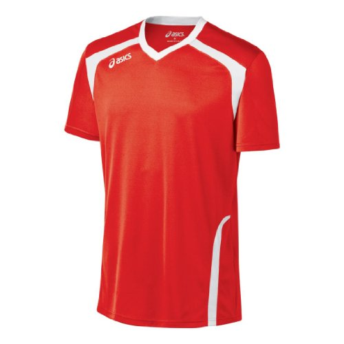 ASICS Men's Ace Jersey, Red/White, Medium
