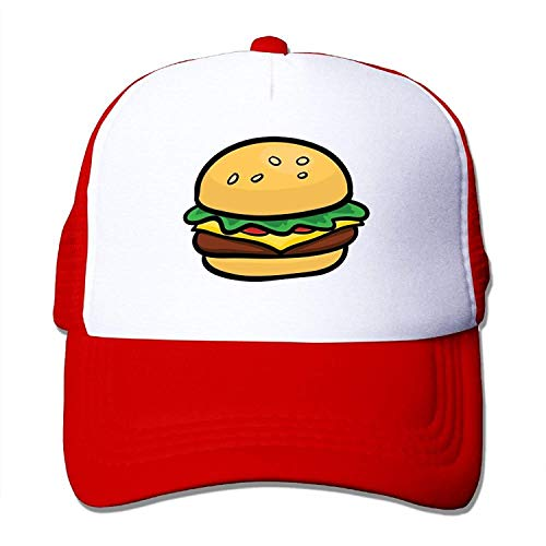 LoveBiuBiu Cartoon Hamburger Youth Mesh Baseball Cap Summer Adjustable Trucker Hat
