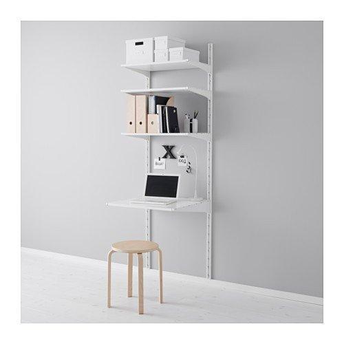 Ikea ALGOT Wandschiene/Böden Aufbewahrungssystem; in weiß; (65x60x196cm)