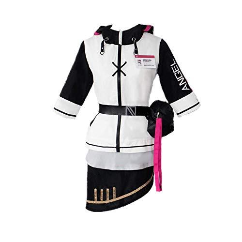 ULLAA 8PCS Spiel Arknights Exusiai Halloween Karneval Cosplay Kostüm Outfit Täglich Casual Uniform Kleid Anzüge mit Zubehör Hohe Qualität