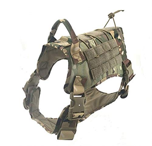 HUAJIANGHU Tactical Harness mit Griff Arbeiten Service-Hund Weste mit Front-Clip Leine Weste (Color : A, Size : M)
