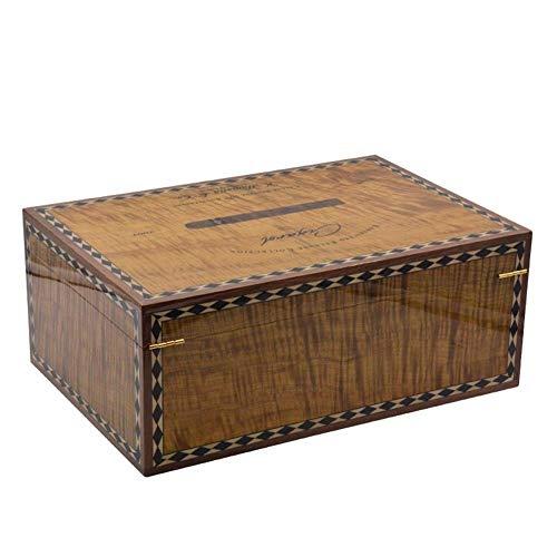 NBHUYT Zedernholz Humidor Parkett Furnier Hochglanz-Lack Box Humidore Zigarre Fall Modische Zigarettenetui