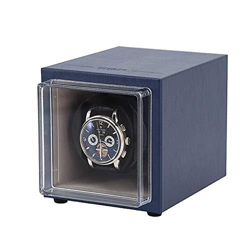 TEHWDE Automatische Uhrenbeweger Storage Box Einzelsuperleise Motor Batteriebetriebene und AC-Adapter für Uhren Uhrenbeweger Motor