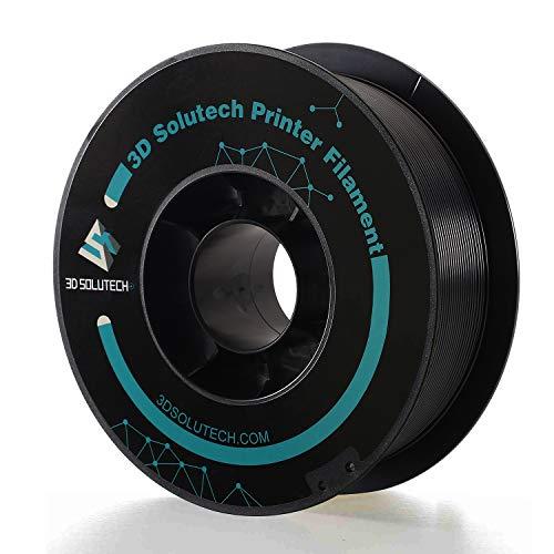3D Solutech Real Black 3D Printer Premium PLA Filament 1.75MM Filament, Dimensional Accuracy +/- 0.03 mm, 2.2 LBS (1.0KG), PREPLABLACK
