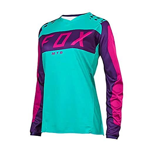 SuppliesZHY Jersey de Bicicleta para Hombre, Mujer Jerseys de Descenso Foxmtb Mountain Bike MTB Ropa Offroad Dh Camiseta de Motocicleta Motocross Fxr Bike Tops Camiseta de Ciclismo M