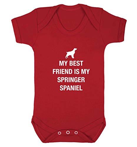 Flox Gilet créatif pour bébé Best Friend Springer Spaniel - Rouge - XS