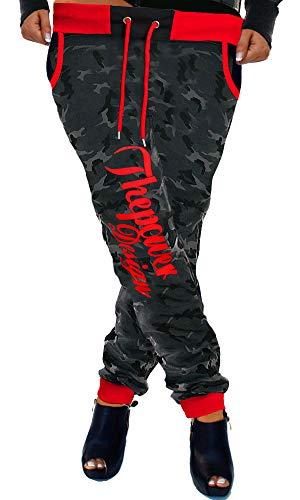 Cinc Damen Jogginghose Trainingshose Schlafanzug-Hose Power Camouflage-Rot H.516 M