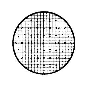Scanning Electron Microscope SEM Finder Grid, Copper, 25/VL