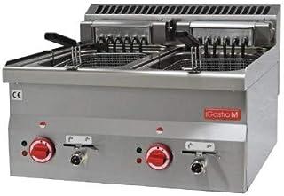 Friteuse professionnelle électrique - 2 x 10 Litres - 7,5 kW - Gastro M - 600