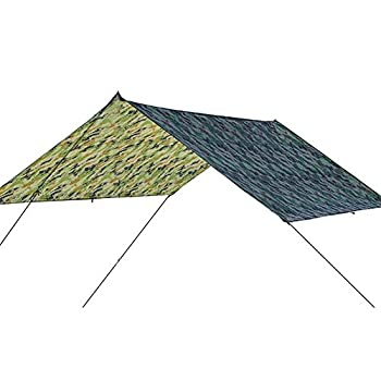 Lsaardth Camping Bâche Anti-Pluie, 39x57 Pouces Bâche de Tente imperméable Pliable Rectangle Pare-Soleil Voile UV Bloc auvent Camping Tarp pour Extérieur Camping Randonnée