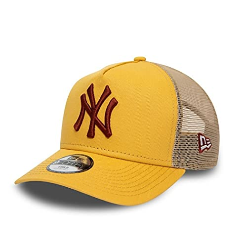 New Era York Yankees MLB League Essential Yellow 9Forty Kids A-Frame Adjustable Trucker Cap - Youth