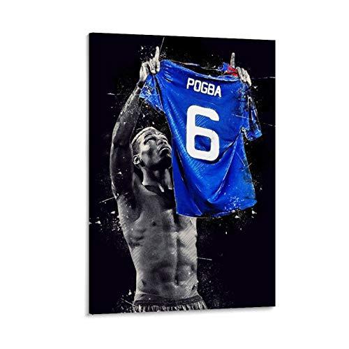 VBNFG - Poster da parete con stampa artistica su tela, motivo: calciatore di Paul Pogba, motivo: Superstar di calcio Paul Pogba, 50 x 75 cm