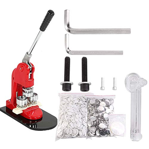 Button Maker, 1/1.25/2.3 inch 2.5/3.2/5.8cm Badge Punch Press Maker with 1000 Circle Button Parts for DIY … (1.25 inch 3.2cm)