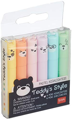 Legami Textmarker Mini Teddy\'s Style 6er Set