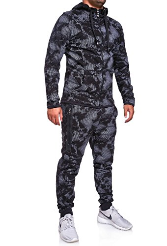 MT Styles Trainingsanzug mit Zipper Hose R-739 [Schwarz, L]