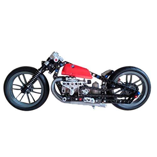 Teakpeak Technik Motorrad, 287Teile Technik Motorbike Modell Motorrad Bausteine, kompatibel mit Lego Technik