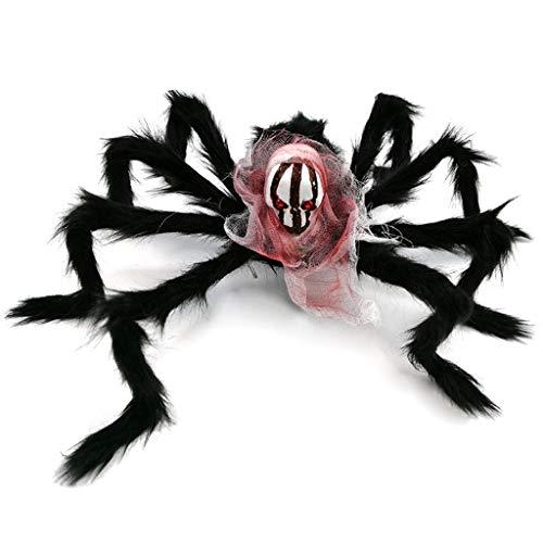 Zmk - Decoración para fiestas de Halloween, color negro