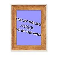 太陽によって デスクトップ木製フォトフレームディスプレイアート絵画セット