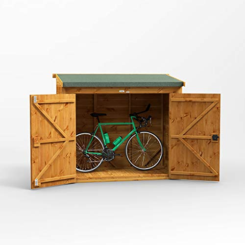 POWER | 6x3 Pent Wooden Bike Shed | Shiplap Bicycle Sheds with Super Fast Delivery
