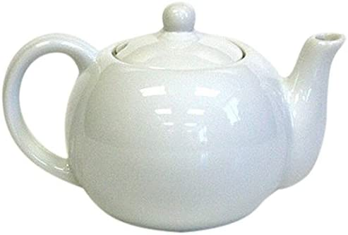 Hues Brews Ivory White Teapot for One 20 oz Tea Kettle with Removable Lid product image