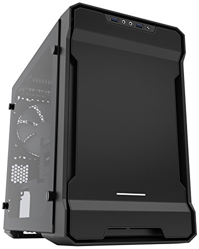 Phanteks Enthoo Evolv ITX Tempered Glass Metal Exterior Clean and...
