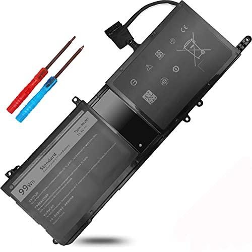99WH 9NJM1 09NJM1 Battery for Dell Alienware 17 R4 R5 15 R3 R4 P31E P69F MG2YH 0MG2YH 01D82 0546FF 44T2R HF250 0HF250 P31E001 P31E002 P69F001 P69F002 11.4V