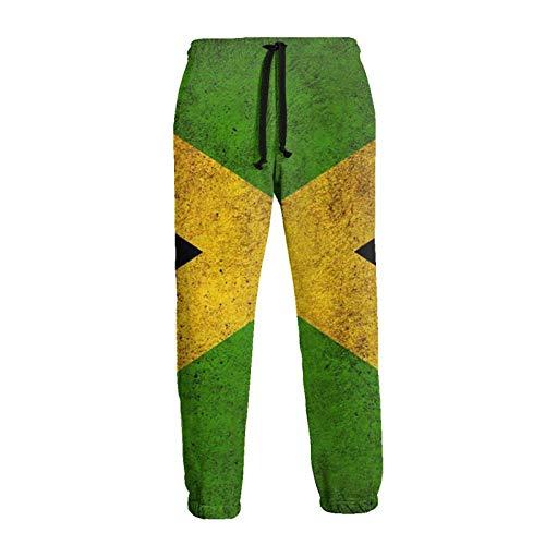 Lewiuzr Herren Jamaica Flag Jogger Jogginghose Mode Sporthose mit Kordelzug und Taschen