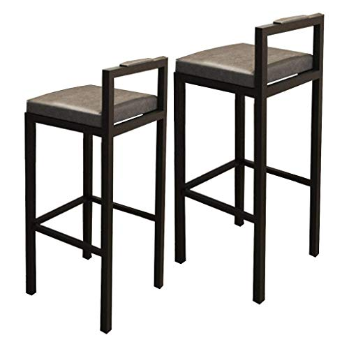 N/Z Daily Equipment Bar Counter Chairs Set of 2 Kitchen Breakfast Barstool Bar Stool with PU Leather Padded Seat Home Kitchen Leisure Cafe Front Desk High Chairs Pub Bistro Tall Table Height Stools