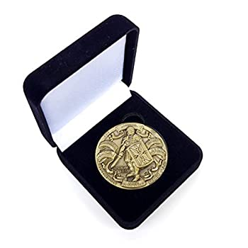 Armor of God High Relief Challenge Coin in Gift Box Ephesians Put on The Whole Armour of God 1 3/4 inch Diameter  44 mm