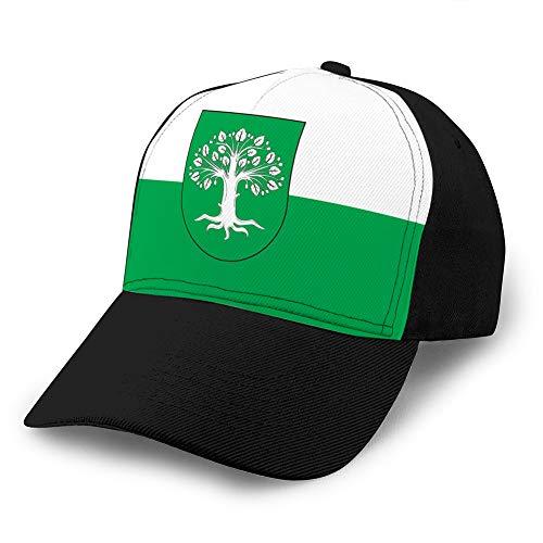 hyg03j4 Unisex Retro Gewaschene gefärbte Baumwolle verstellbare Jean Baseball Cap Flagge von Bocholt in Nordrhein Westfalen Deutschland Unisex Hüte