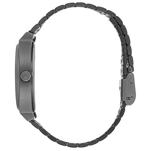 Nixon Herren Analog Quarz Uhr mit Edelstahl Armband A045-2340-00