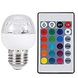 Bombilla LED Luz de Escenario, AC85-265V 3W E27 RGB Bombilla LED Luz de Escenario Lámpara Colorida de decoración de Fiesta con Control Remoto